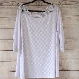 Long Sleeve White Blouse by Notations